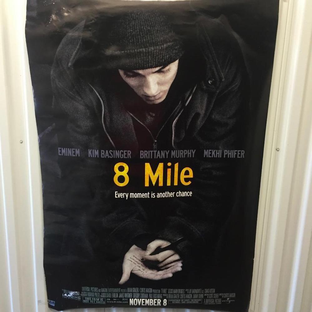 8 Mile Eminem, Mekhi Phifer ORIGINAL MOVIE THEATRE POSTER~27X40~VERY ...