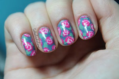 freehand roses  flower nail designs flower nails nail art