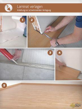 laminat verlegen anleitung zur schwimmenden verlegung bau pinterest laminat verlegen. Black Bedroom Furniture Sets. Home Design Ideas