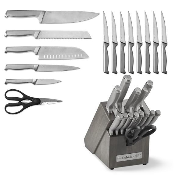 Calphalon Classic Sharpin Stainless Steel 15 Piece Knife Set Grey Williams Sonoma Knife Sets Knife Set Kitchen Ceramic Knife Set