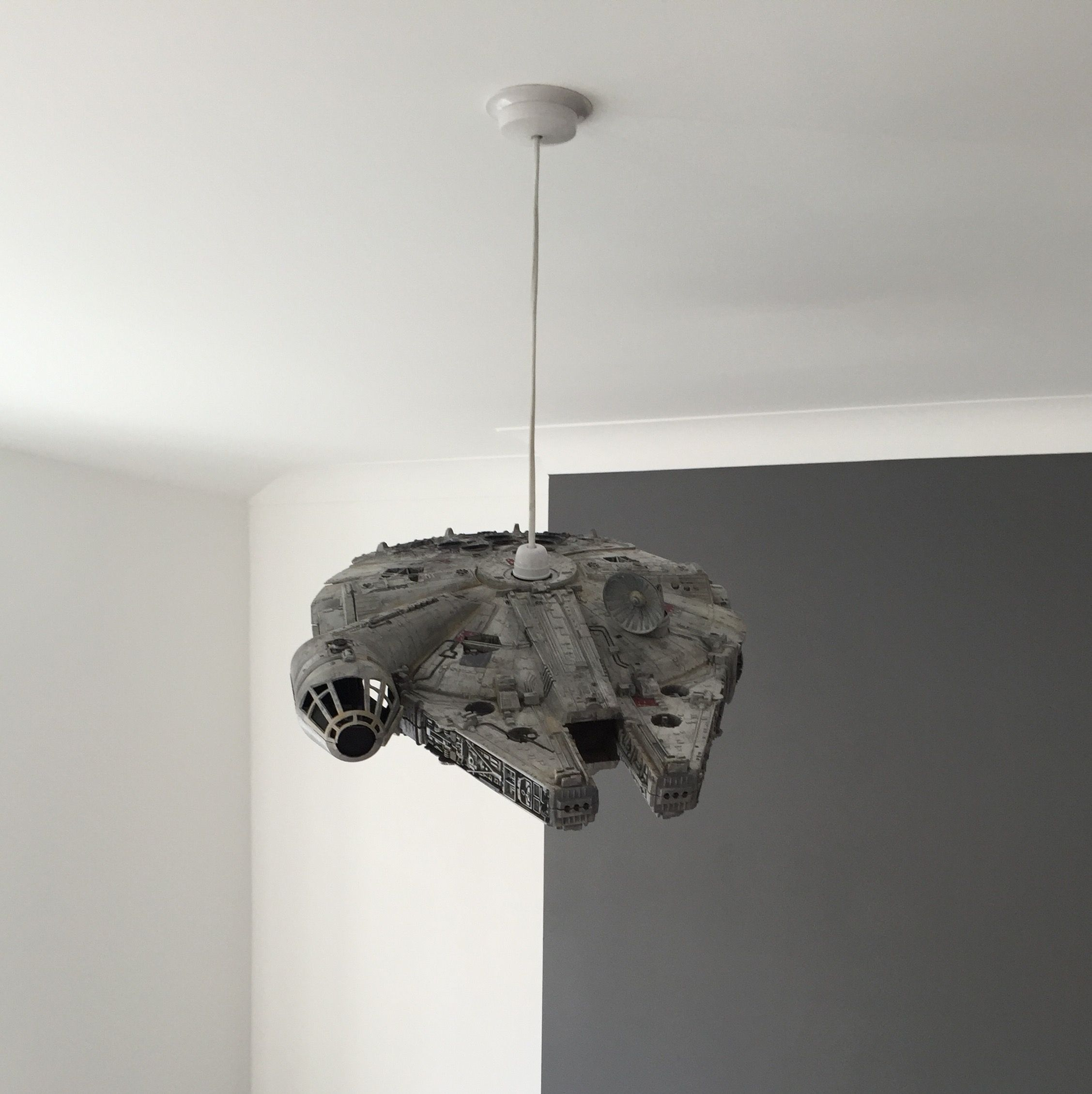 Star Wars Millennium Falcon Toy Turned In To Lampshade Millennium Falcon Toy Star Wars Lamp Millennium Falcon