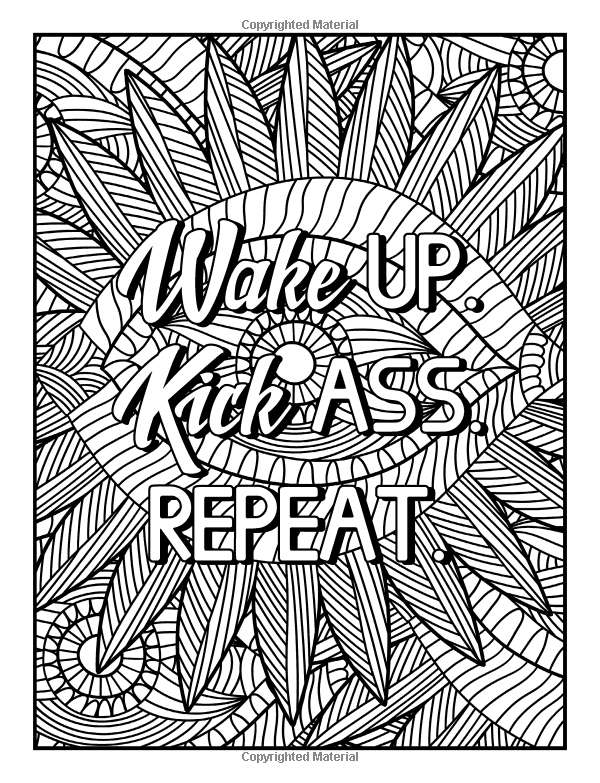 Amazon Com An Inspirational Colouring Book For Everyone Be Fearless In The Pursuit Of What S Swear Word Coloring Book Love Coloring Pages Words Coloring Book