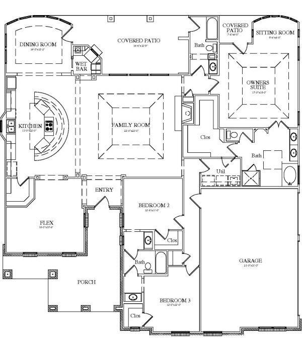 Floor Plans For Entertaining