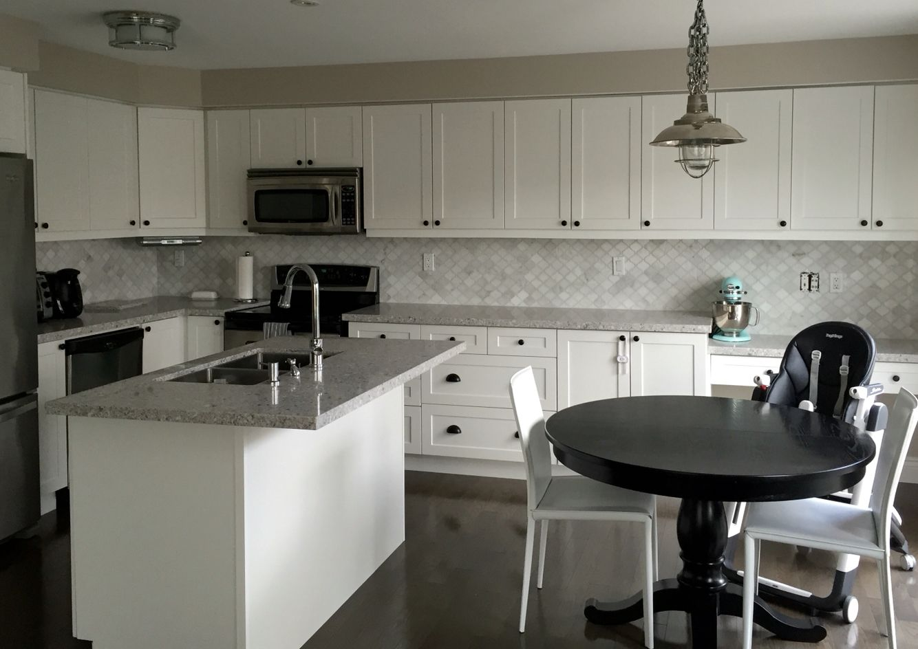 Our New Kitchen Atlantic Salt Caesarstone Counters And A Marble