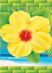 Accent Flag - Tropical Hibiscus
