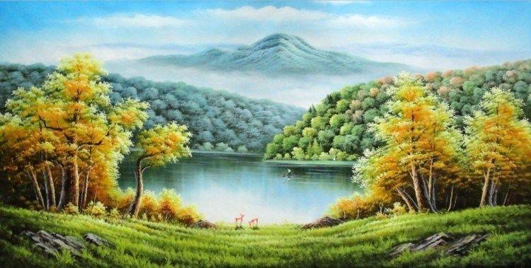 Kumpulan Gambar 2 Dimensi Dan Karya Seni 3 Dimensi Fokussatu Com Pemandangan Lukisan Gambar