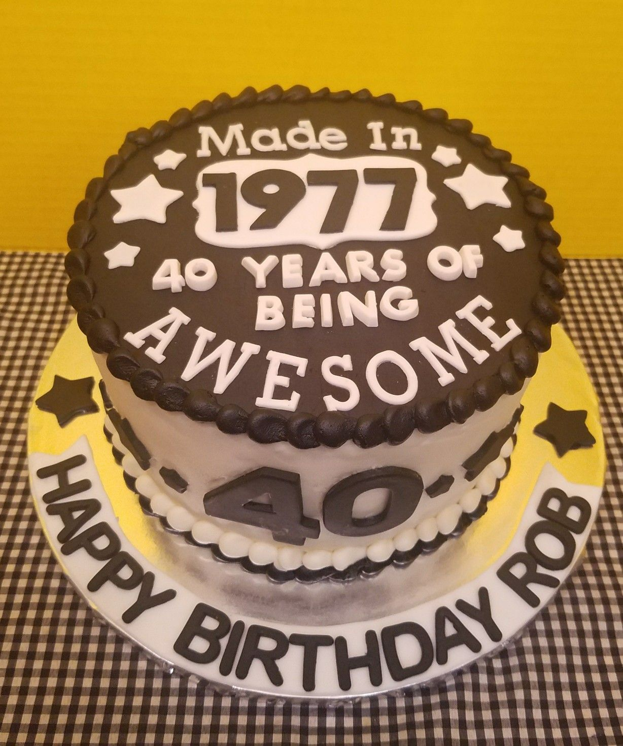Th Birthday Cake All Buttercream With Fondant Decorations Also Excellent Picture Of Mens Toppers Rh