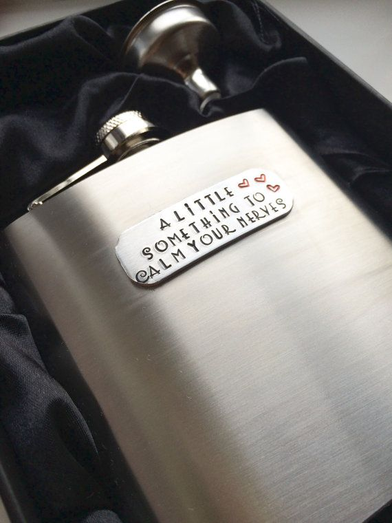 Personalised hip flask groom gift best man by Daisylilyjewellery