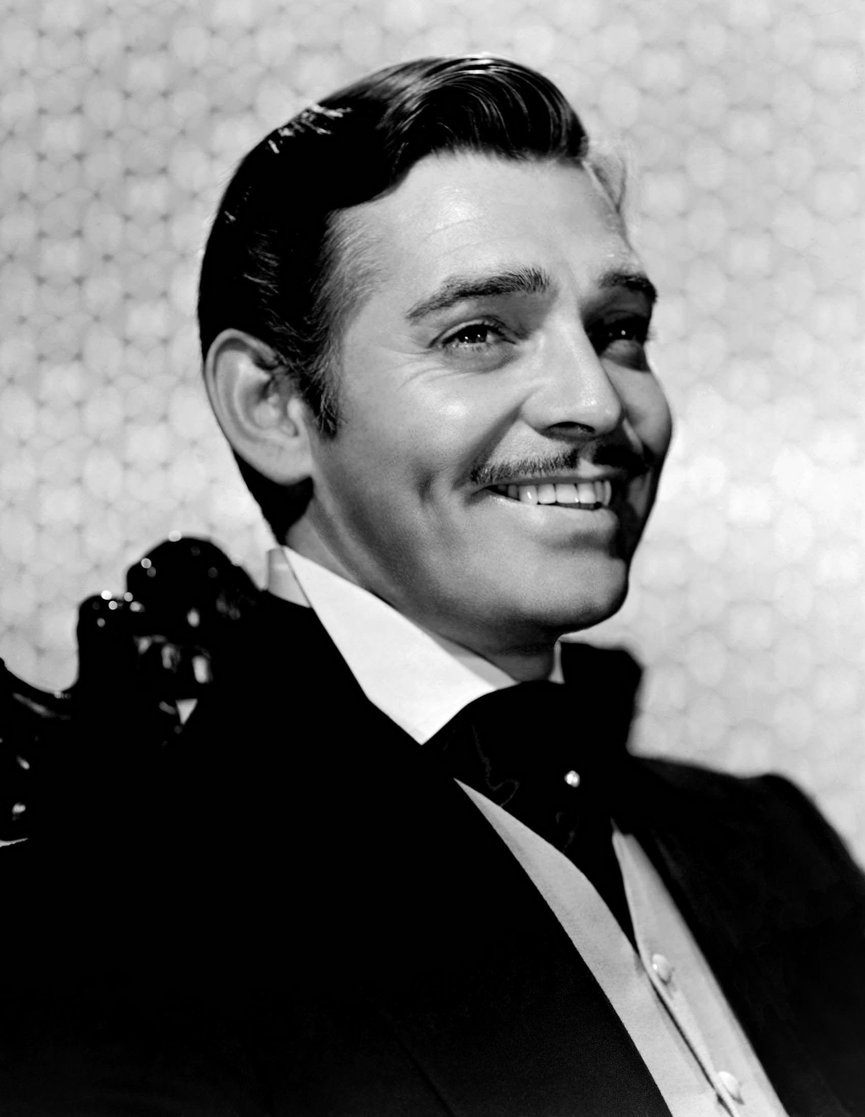 Clark Gable as Rhett Butler.