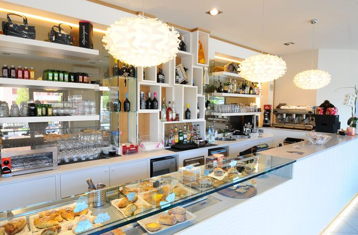 Contemporary Cafe Interior Design and Modern Italian Furniture