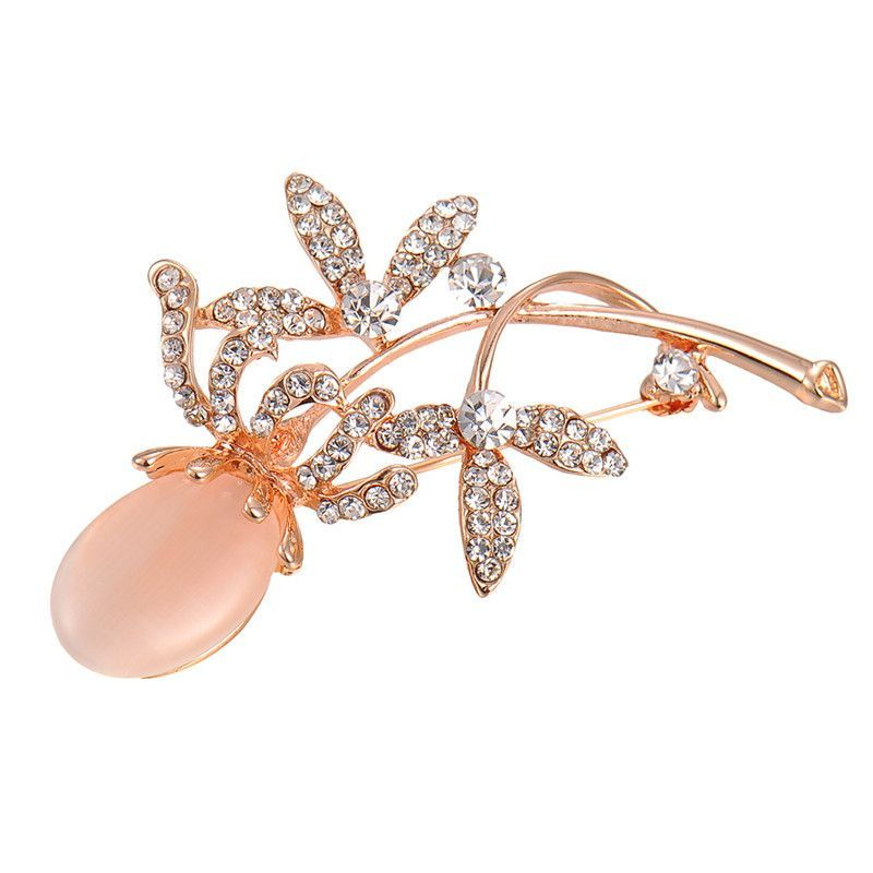 Vintage Clover Flower Leaf Brooch  #pin #fashion #brooch #jewelry #accessories