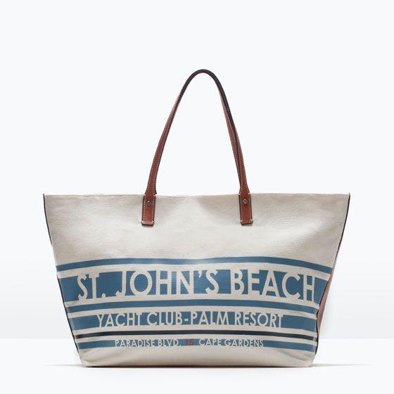 ZARA - BEACH HOLIDAY - SHOPPER TEJIDO   Bolsos   Pinterest ...