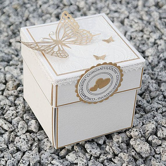 Wedding Exploding Box Monochrome Invitations