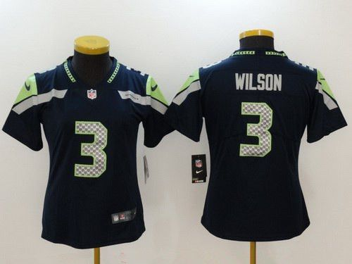 50a7afd12  22 Women s Seattle Seahawks  3 Russell Wilson Navy Blue 2017 Vapor  Untouchable Nike Stitched NFL