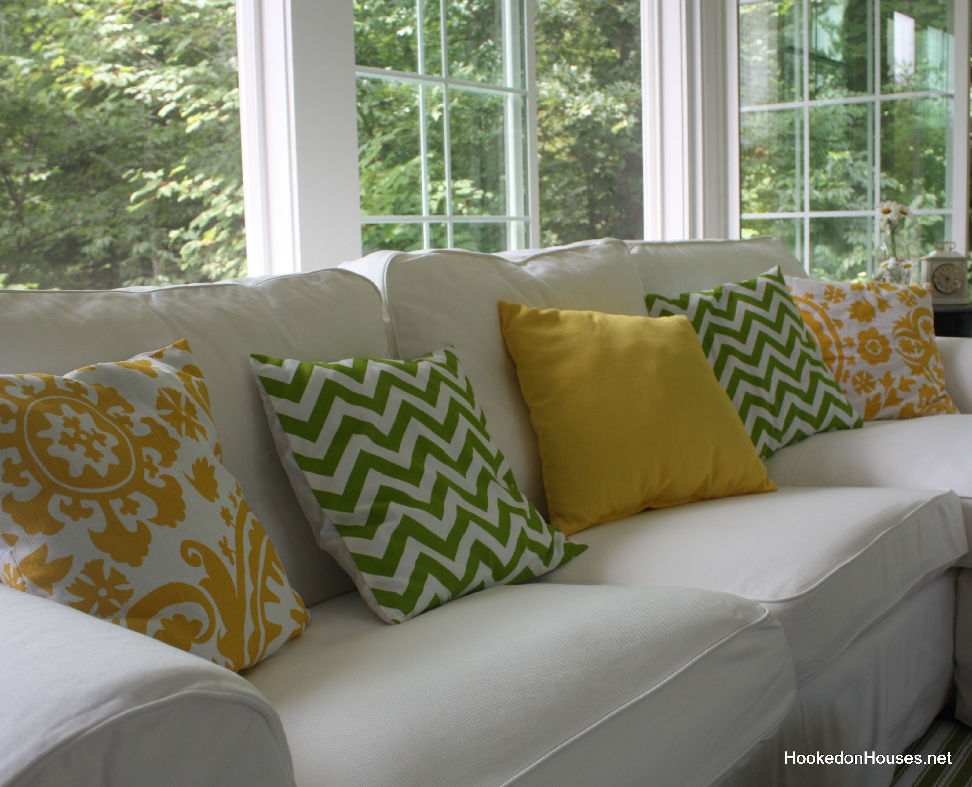 Great Close Up Of New Pillows On Sofa 7