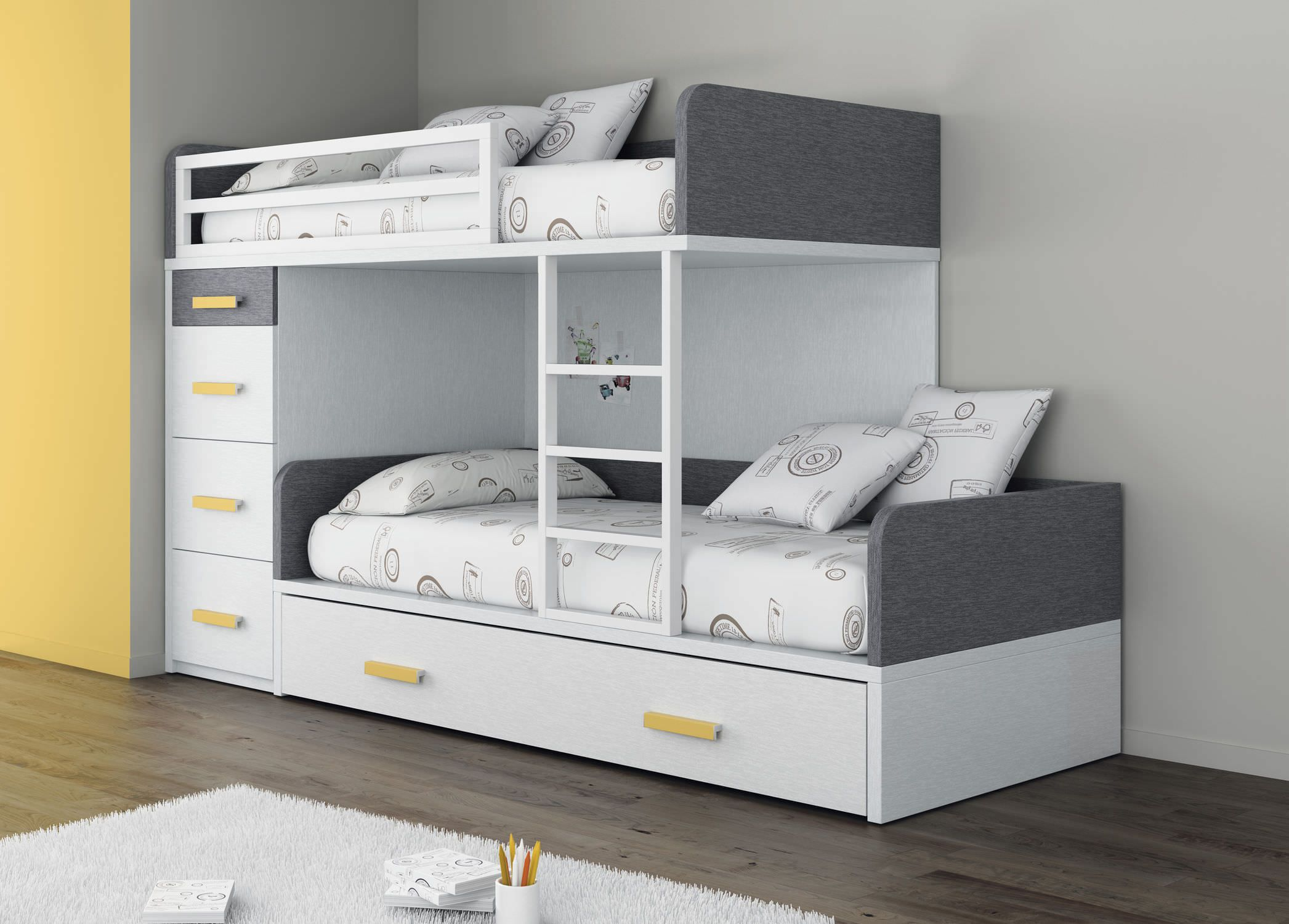 lit simple superpos contemporain pour enfant mixte touch 52 ros 1 s a cuddles and. Black Bedroom Furniture Sets. Home Design Ideas