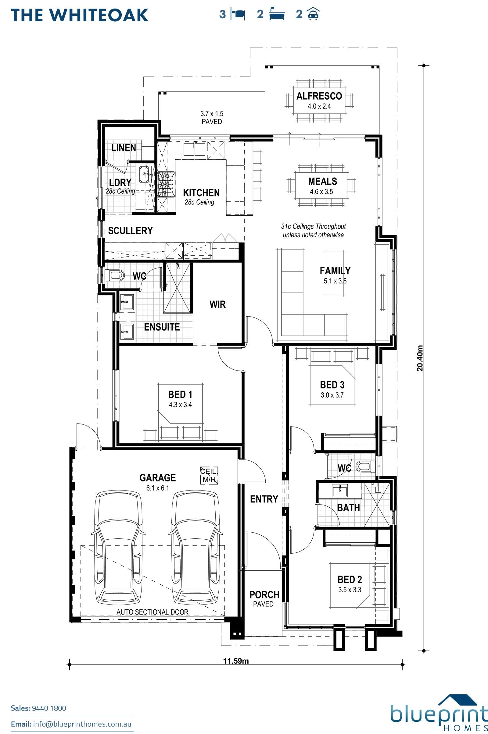 The Whiteoak Perth Display Home Piara Blueprint Homes Single Storey House Plans Best House Plans Display Homes