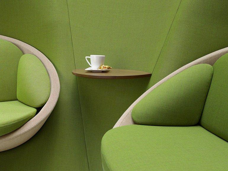 2 seater high-back fabric sofa WYSPA 22 by profim