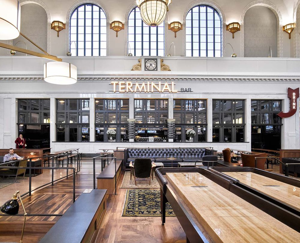 To The Next 100 Years Avroko Restores Denver Union Station See More Ideas Https Www Amclassicfurniture Com Union Station Denver Design Restaurant Design