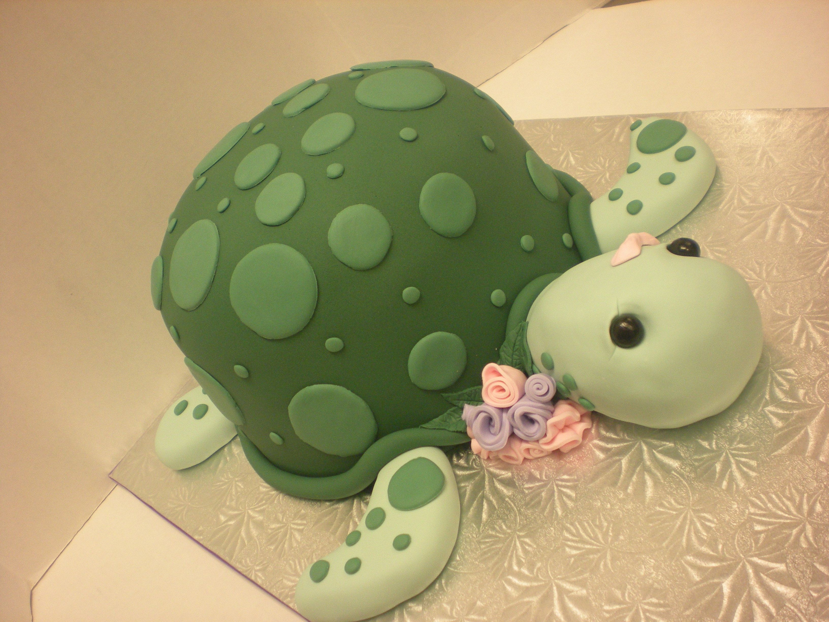Turtle cake made by Classy Cakes instructor Karla Tompson Fiesta