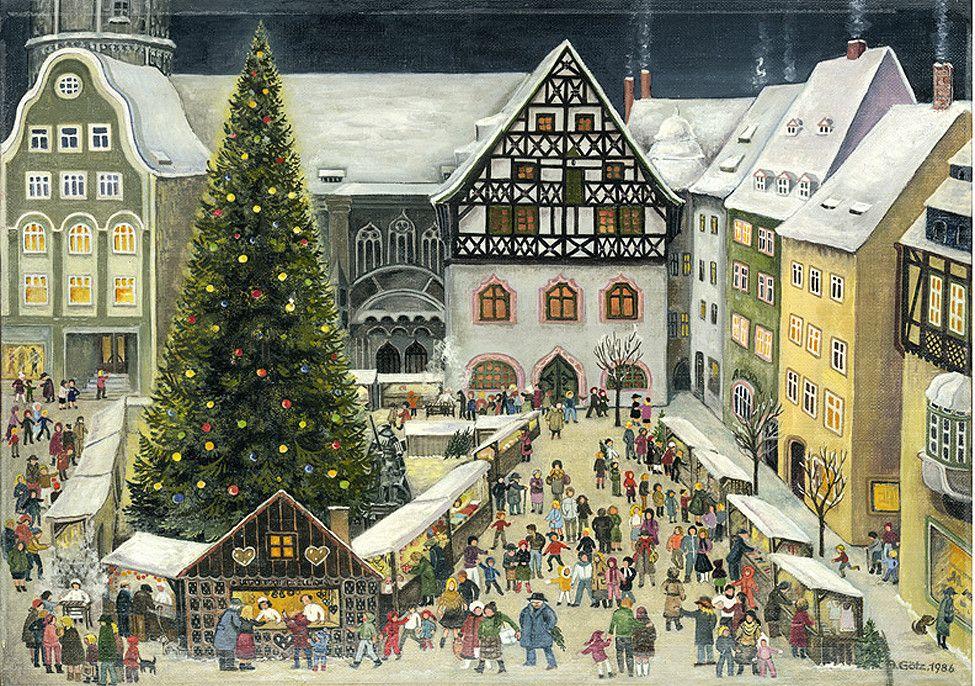 Германия рождество открытки