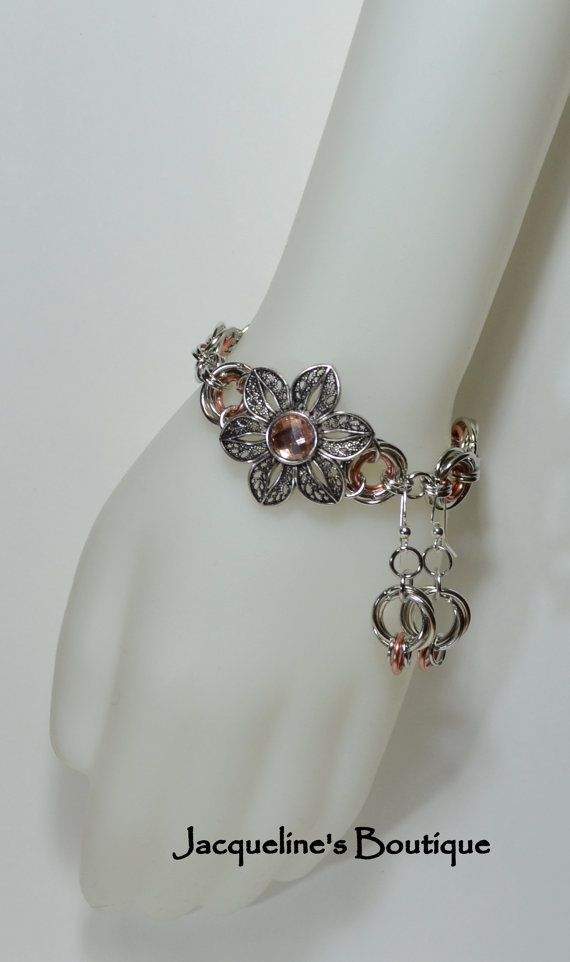 Hey, I found this really awesome Etsy listing at https://www.etsy.com/listing/184116382/antique-silver-and-peach-bracelet