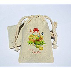 Personalized cotton muslin happy easter party favor bag easter personalized cotton muslin happy easter party favor bag easter holiday favor bag happy easter negle Images