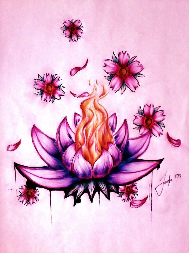 Burning flower tattoo google search art pinterest tattoos burning flower tattoo google search flower drawing tumblr lotus flower drawings lotus flower izmirmasajfo