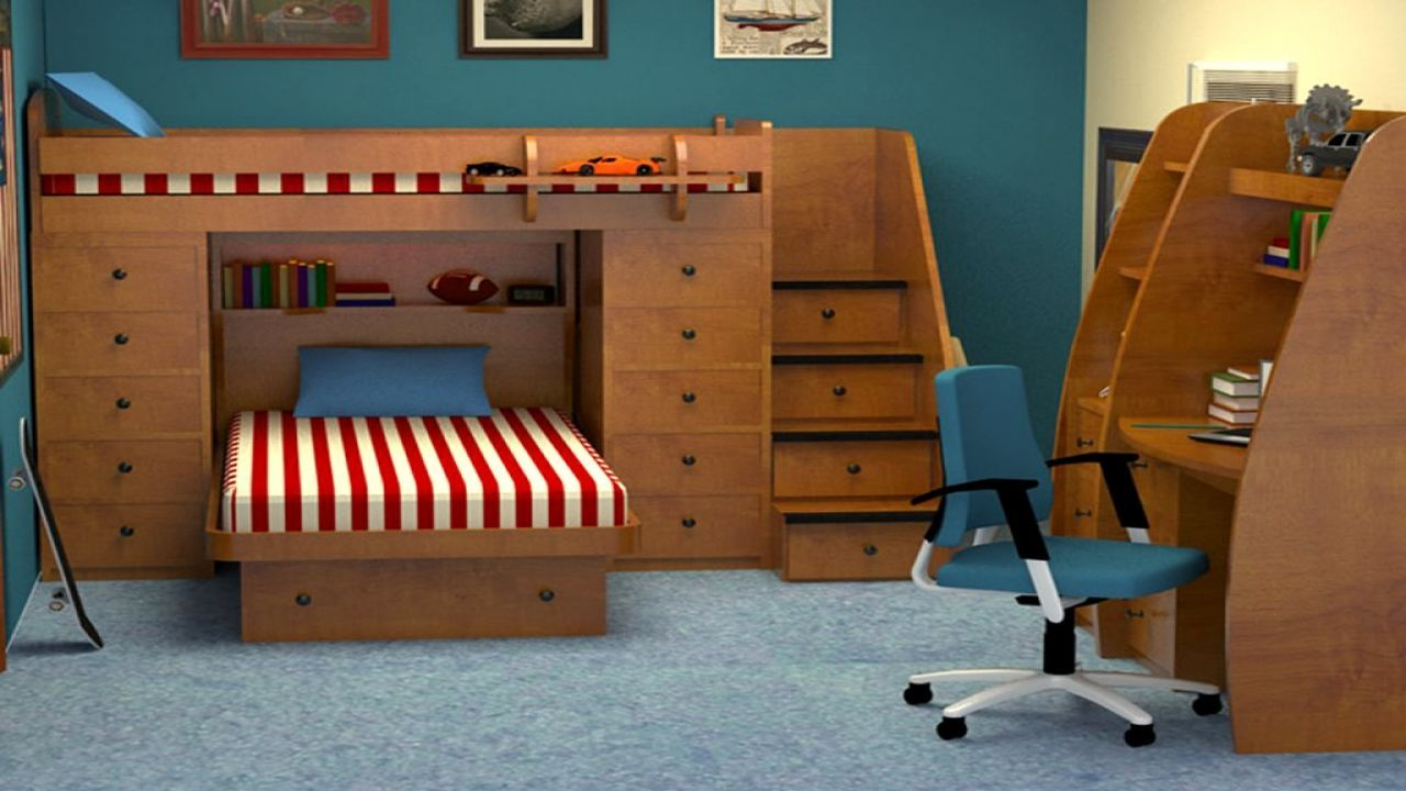 48 Loft Bed Ideas For Small Rooms Space Saving   Space ...