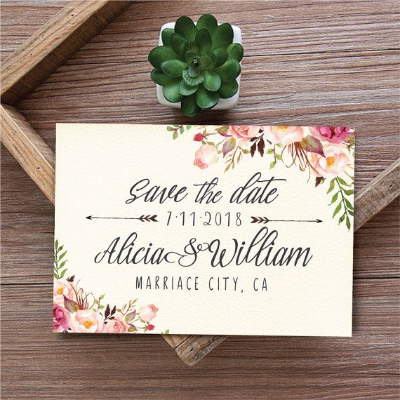 Save The Date Template Printable Save The Date Card Boho Save