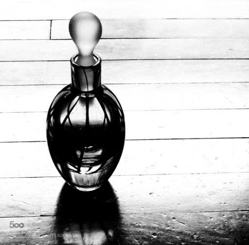 Perfume Bottle - Pinned by Mak Khalaf Black and White black and whitecompositionperspective by MaryamArif