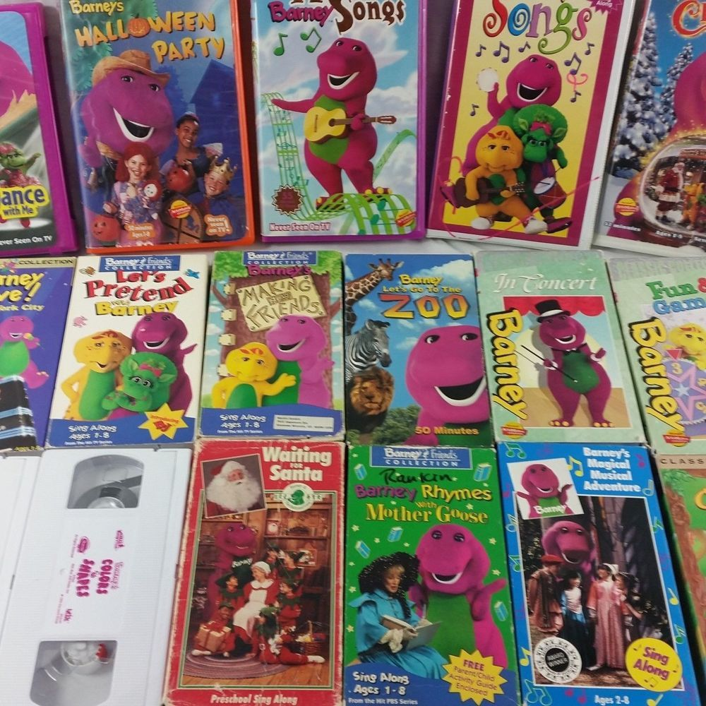 Barney VHS Tapes Lot Set Videos Friends 90s Lyons Songs Sing Along ...