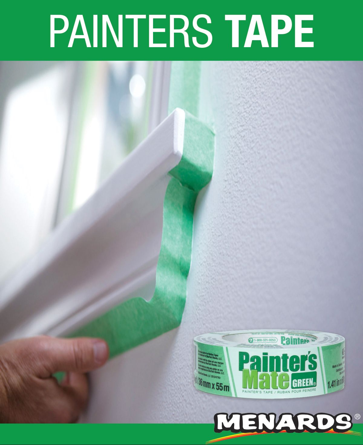 Painter S Mate Green 8 Day Painting Tape Features A Rubber Based Adhesive System With Moderate Tack And Excellent Adhes Tape Painting Paint Line Painters Tape