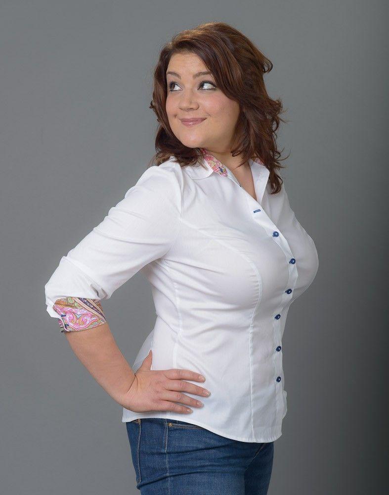 maximila - Bluse für Frauen mit größerer Oberweite | Bluse