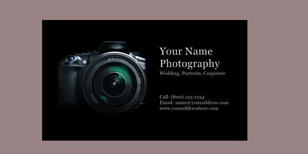 30 Free Photography Business Cards | Photography Business Cards ...