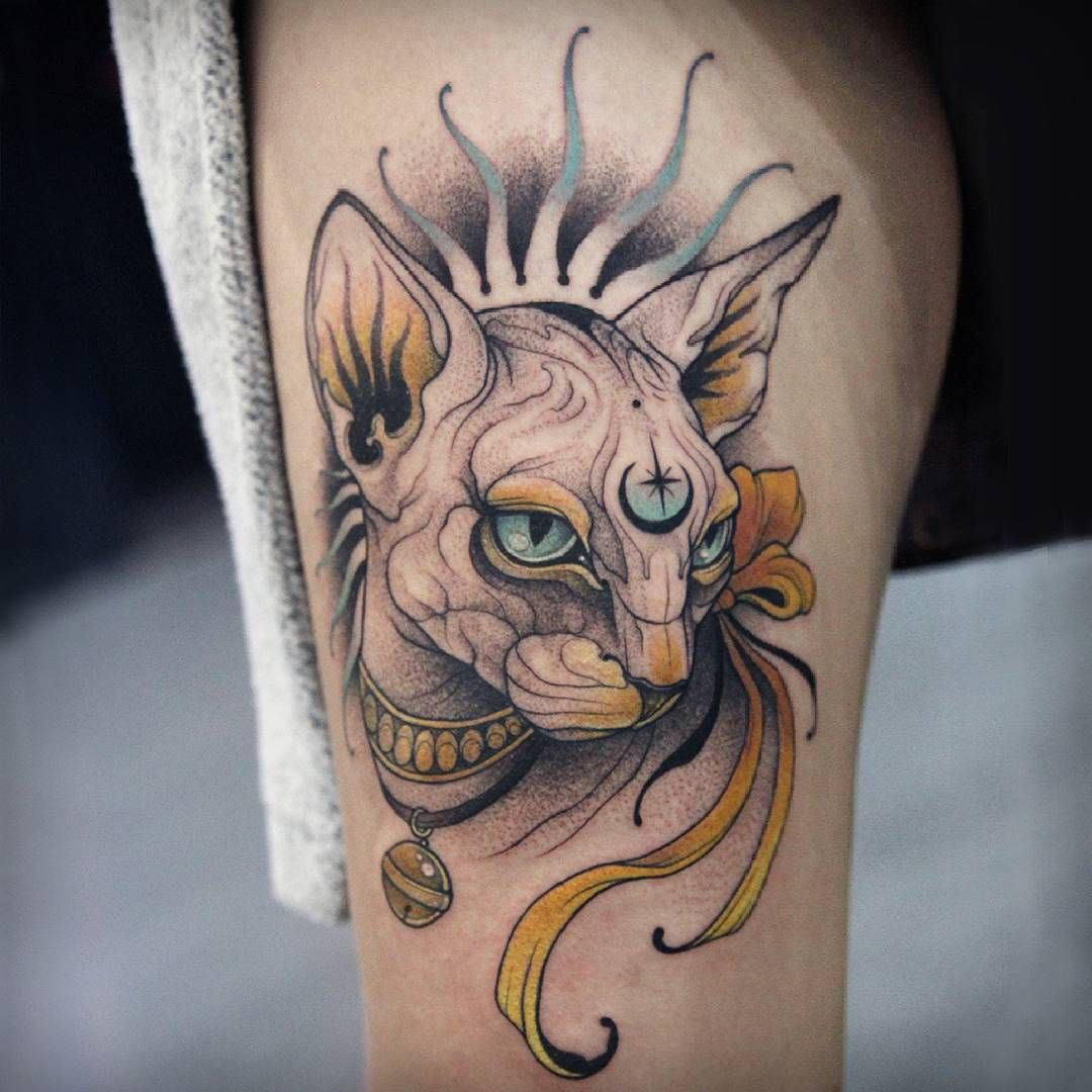 Neo Traditional Pet Tattoo
