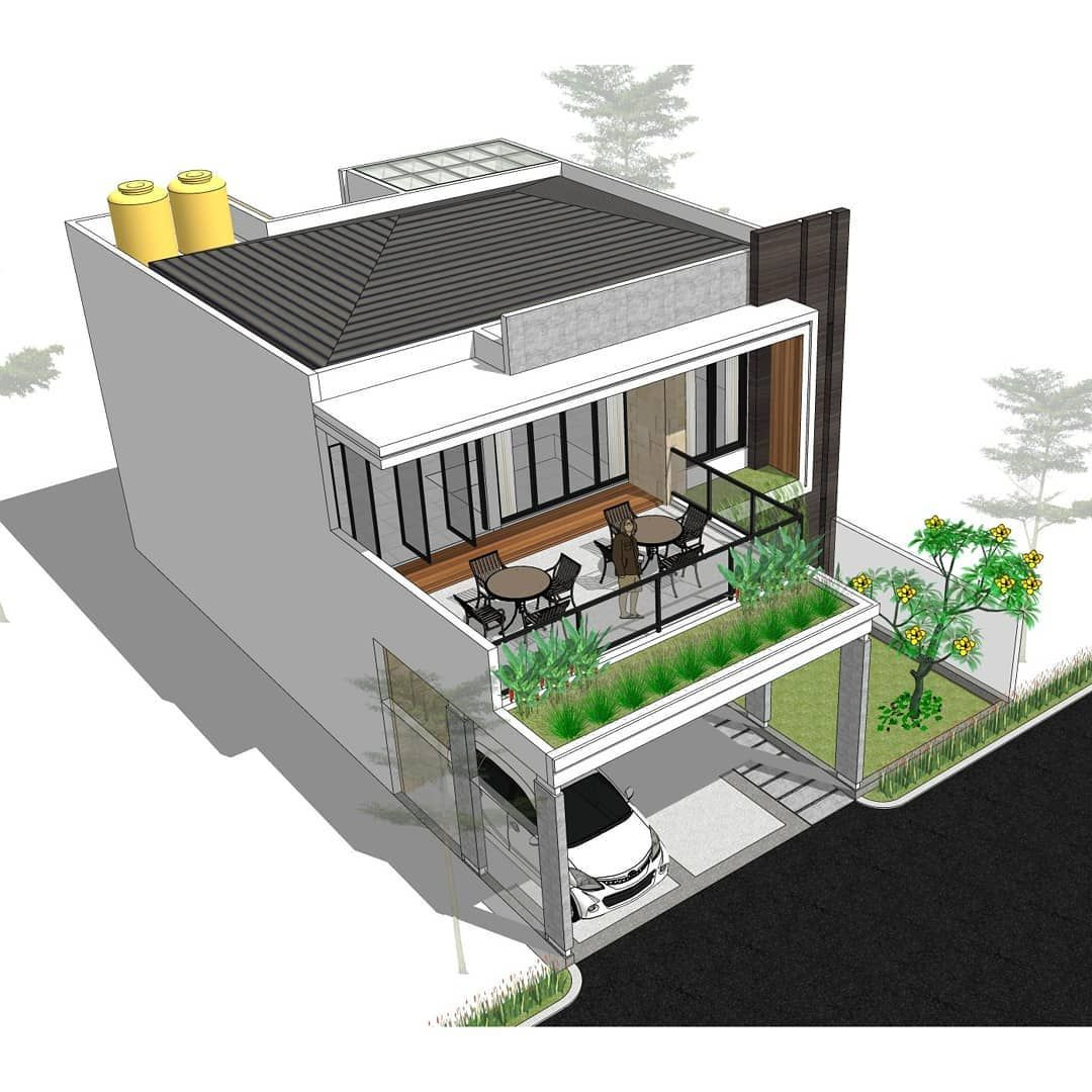 Rumah 4 1 Kt W Roof Garden Di Lahan 10 X 16 M Good Design For Everyone With Affordable Price Desain Denah 300rb 100m2 Luas Haus