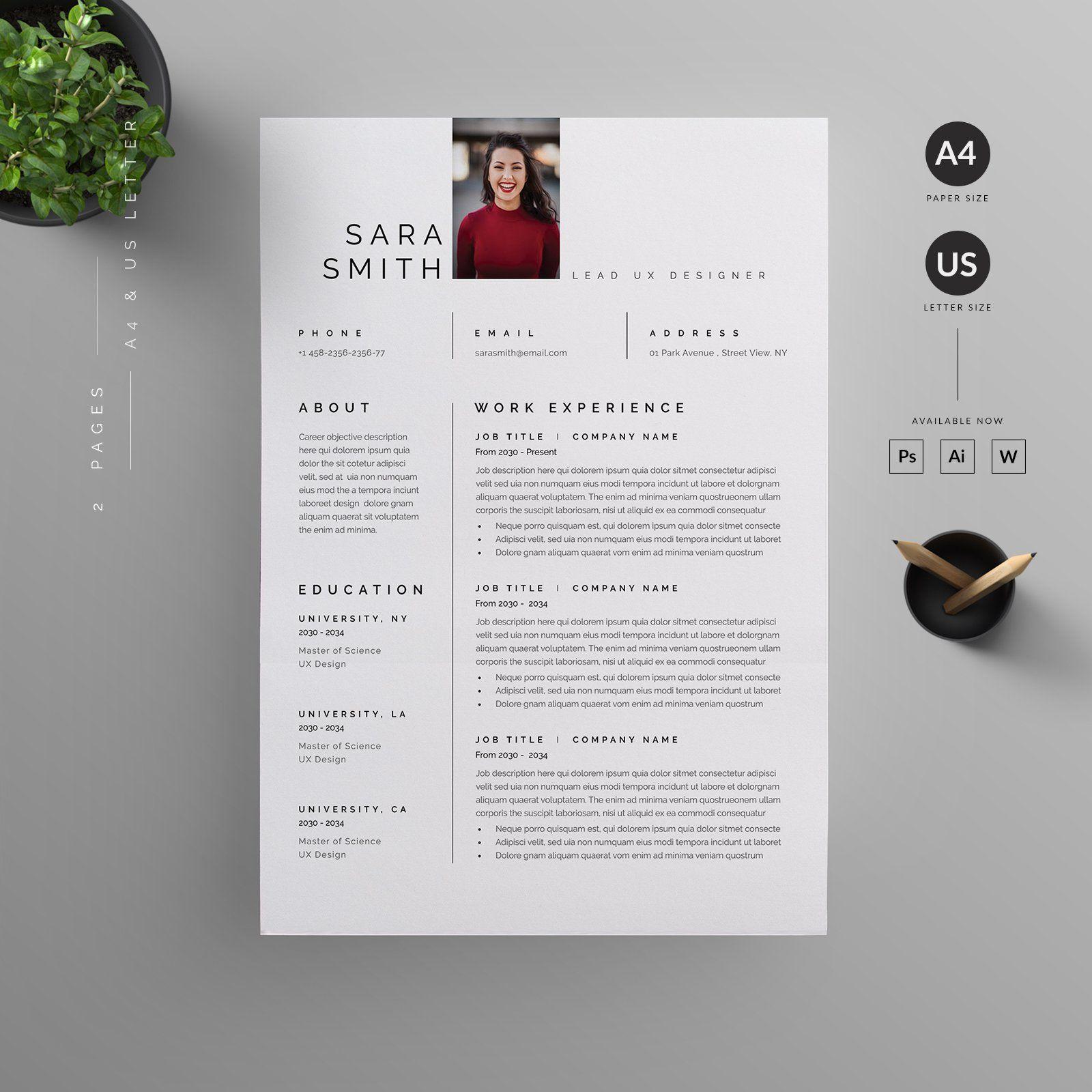 Resume/CV in 2020 Letterhead design, Resume cv, Resume
