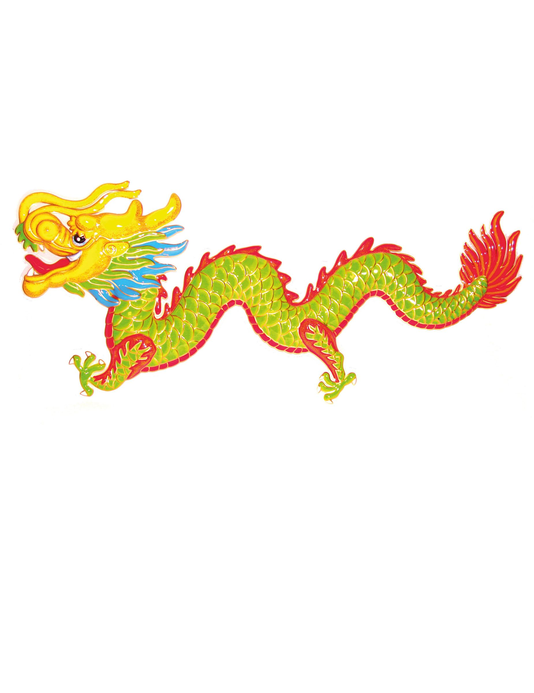 Drachen dekoration asien mottoparty 100cm mottoparty Drachen dekoration