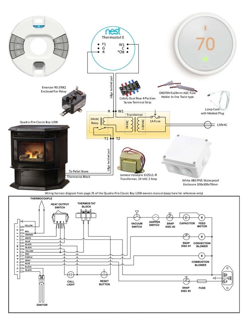 Hack Your Nest Thermostat To Run A Gas Stove Or Fireplace Gas Stove Nest Thermostat Pellet Stove
