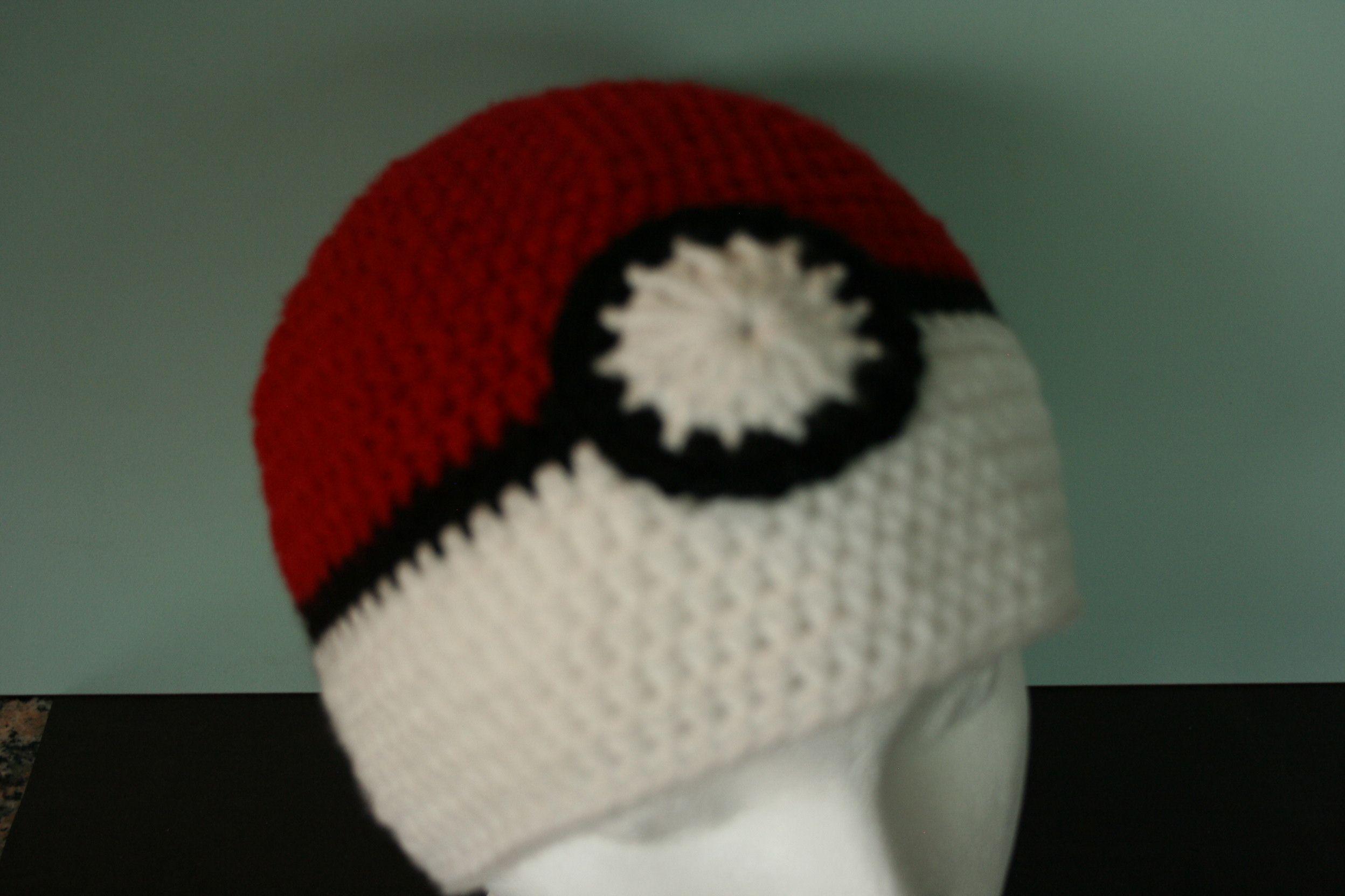 Free crochet pattern for hat based on Pokemon game http://www ...