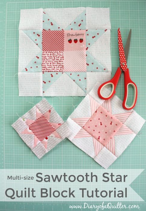 Fast Flying Geese + Sawtooth Star Quilt Block Tutorial | Diary of a Quilter