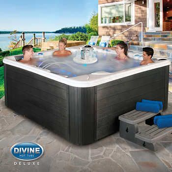 Divine Hot Tubs Sinclair 115 Jet 7 Person Spa Hot Tub Spa Hot Tubs Hot Tub Backyard