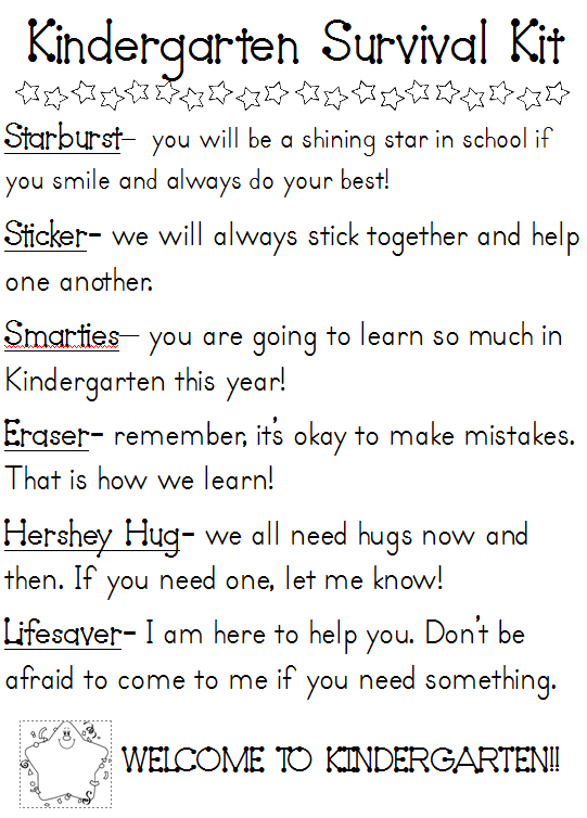 Survival Kit on Pinterest   Preschool Graduation Gifts, Preschool ...