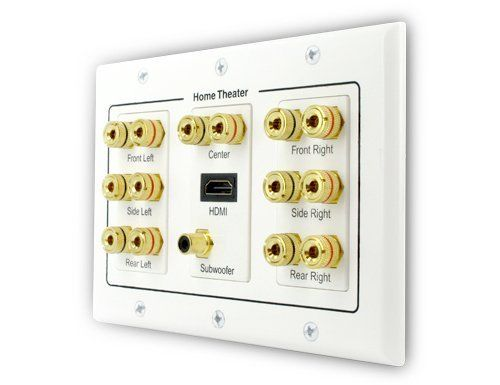 Banana Plug Wall Plate Fair 71 With Hdmi Binding Postbanana Plug Wall Platesewell Direct Design Ideas
