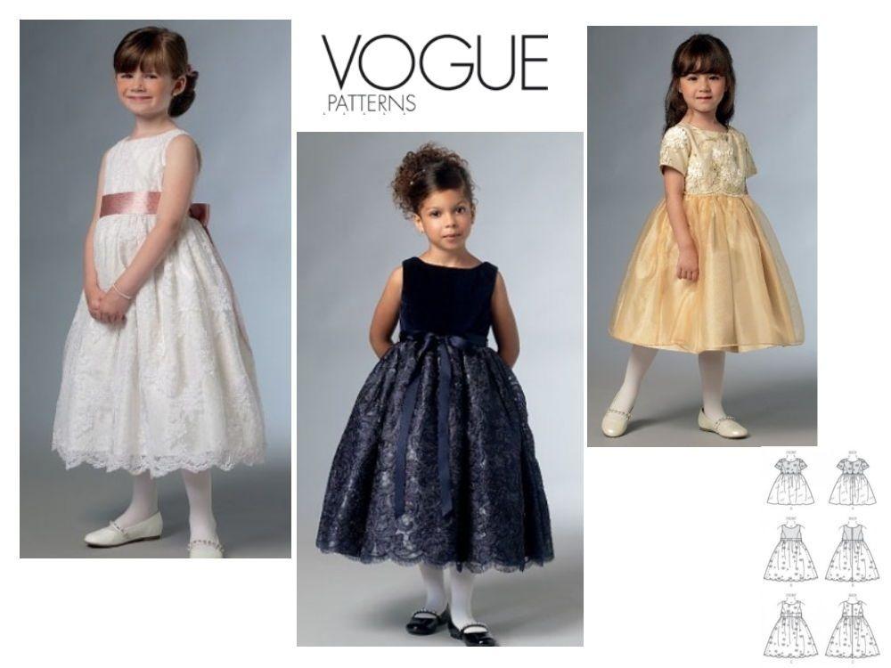 Schnittmuster Vogue 9072 Mädchen-Kleid, V9072, bei stoffe-hemmers.de ...