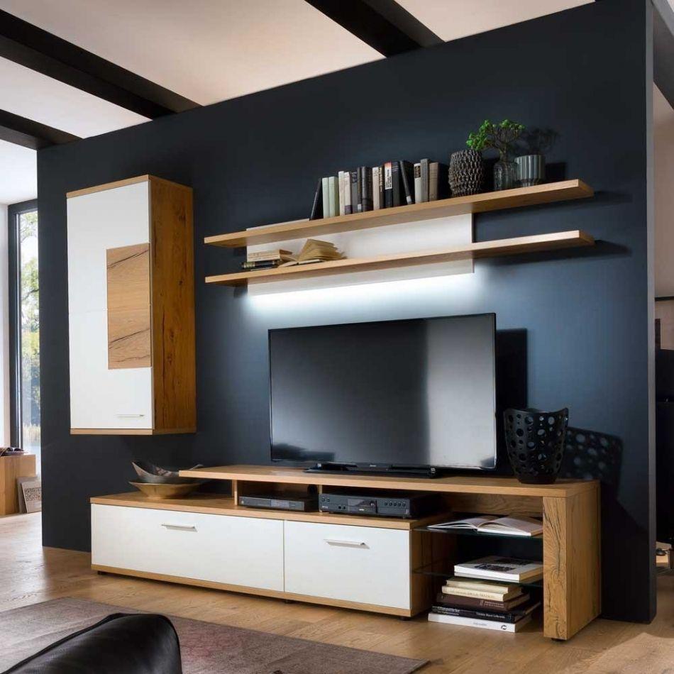Erstaunlich Wohnwand Modern Eiche Small House Interior Design