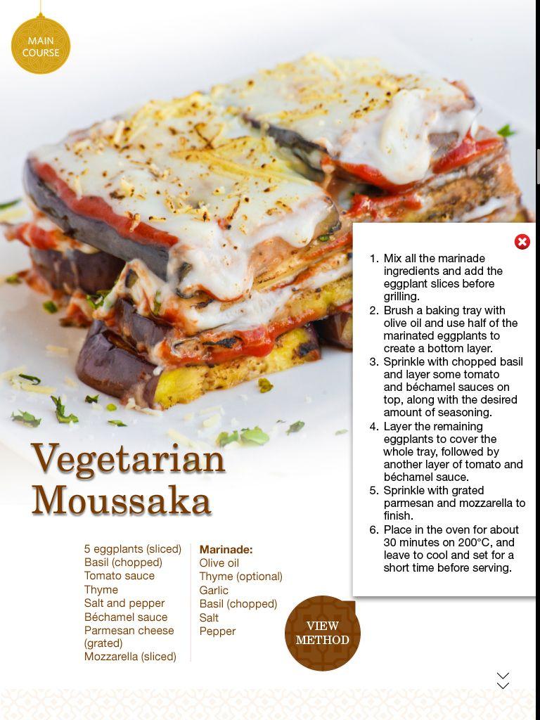 Vegetarian Moussaka | Greek Food | Pinterest