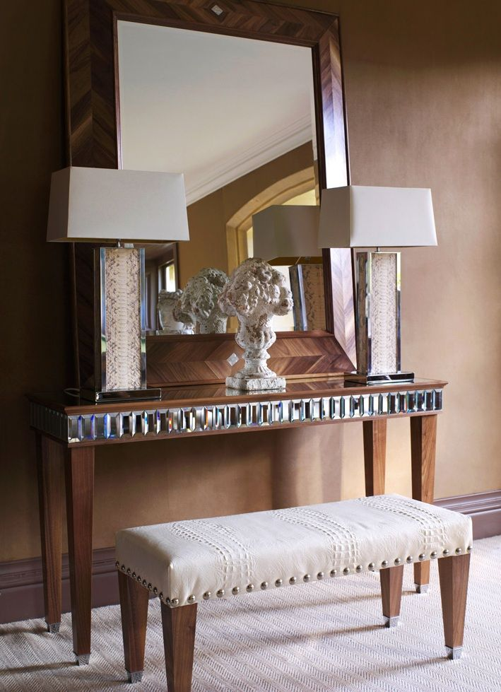Beautifully Decorated Luxury Living Room 3d Models: Hollywood Luxe Python Leather Tower Lamps Luxury Interiors