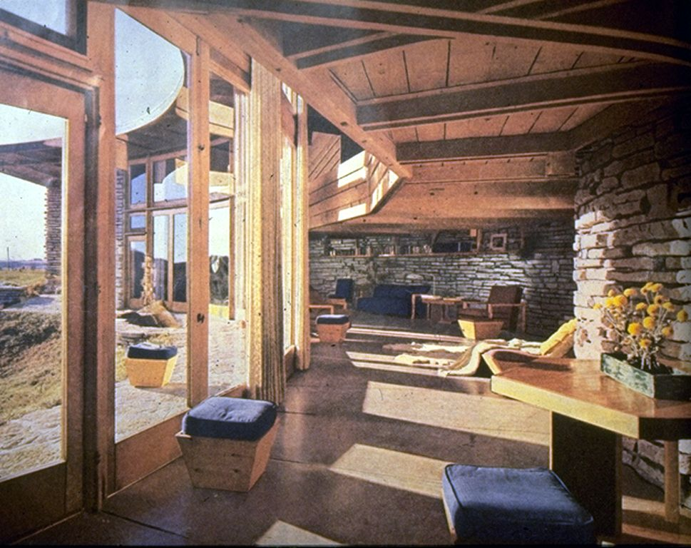 frank lloyd wright interiors | heat flow through the building